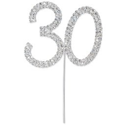 Diamant 30 silber, 4,5x 5,5 cm