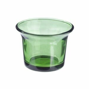 Teelichtglas Dunkelgrün, 6,5 x 4,5 cm, 10 Stück