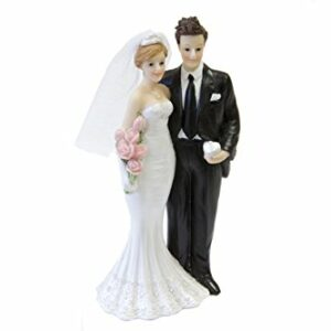 Tortenfigur Brautpaar, Polyresin, D: 16 cm