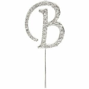 Diamant Buchstabe B Silber, 4,5cm