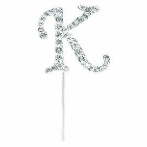 Diamant Buchstabe K Silber, 4,5cm