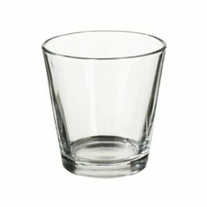 Teelichtglas 4,5 x 6,3 – 6,6 cm hoch, 10 Stück