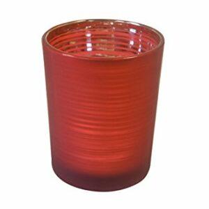 2 Stück Teelichtglas Rot,, 6,8 x 5,8 cm