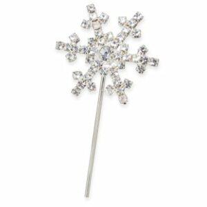 Diamant Schneeflocke, Silber, 30mm
