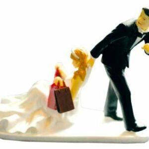 Tortenfigur Lustiges Brautpaar, Shoppingtour