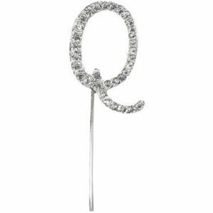 Diamant Buchstabe Q Silber, 4,5cm