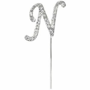 Diamant Buchstabe N Silber, 4,5cm