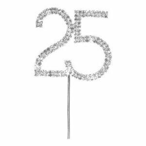 Diamant 25 silber, 4,5x 5,5cm
