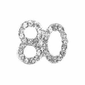 Diamant 80 Silber, 20x 20mm, 5Stück