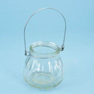 Glas mit Bügel zum Aufhängen, 7,5x 7cm
