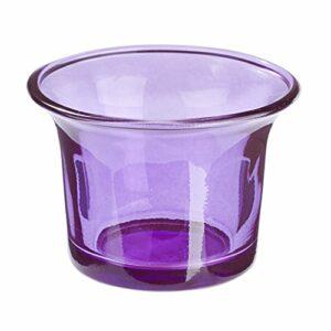 Teelichtglas Lila, 6,5 x 4,5 cm, 10 Stück