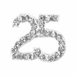 Diamant 25 Silber, 20x 20mm, 5Stück