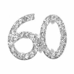 Diamant 60 Silber, 20x 20mm, 5Stück