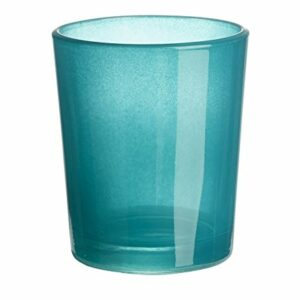 Teelichtglas Türkis, 6,5 x 4,8 x 5,8 cm,,10 Stück