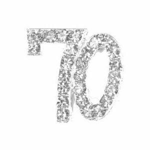 Diamant 70 Silber, 20x 20mm, 5Stück