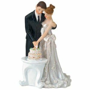 Brautpaar schneidet Torte, 13cm