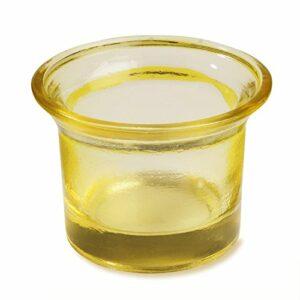 Teelichtglas Gelb, 6,5 x 4,5 cm,10 Stück