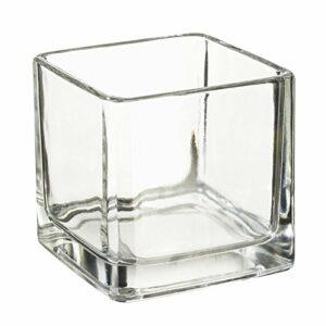Teelichtglas eckig 5 x 5 cm – 1 Stück