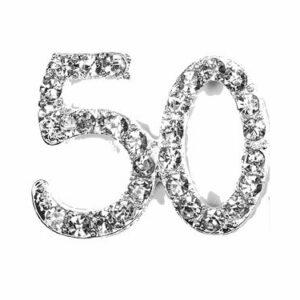 Diamant 50 Silber, 20x 20mm, 5Stück