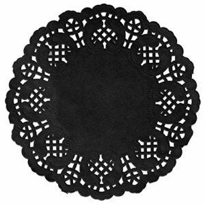 10 Stück Tortenspitzen schwarz, D 35 cm
