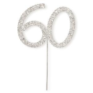 Diamant 60 silber, 4,5 x 5,5 cm