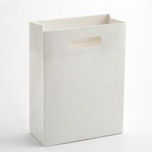 10 Stück Geschenktaschen Seta weiß mit Griffen  100x50x145mm