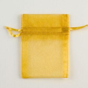 Organzasäckchen Gold –  7.5cm x 10cm (10 Stück)
