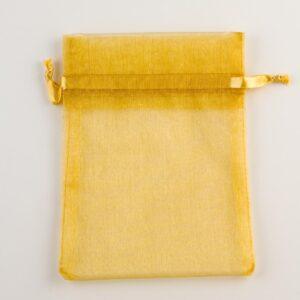 Organzasäckchen Gold –  10cm x 12.5cm (10 Stück)