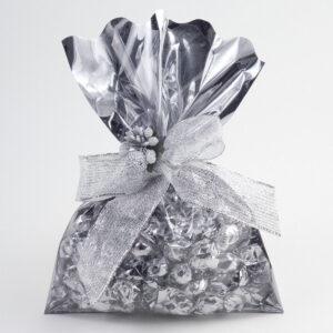 Folientüte silber mit durchsichtiger Vorderseite, 16x24cm (50 Pack)