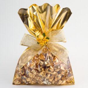 Folientüte gold mit durchsichtiger Vorderseite, 16x24cm (50 Pack)