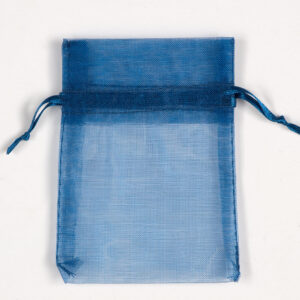 Organzasäckchen Dunkelblau –  7.5cm x 10cm (10 Stück)