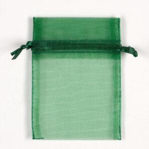 Organzasäckchen Dunkelgrün –  7.5cm x 10cm (10 Stück)