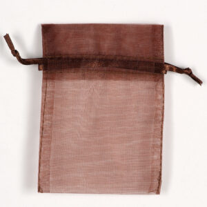 Organzasäckchen Braun –  7.5cm x 10cm (10 Stück)