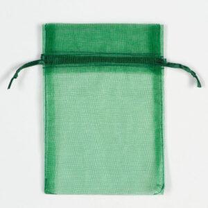 Organzasäckchen Dunkelgrün –  10cm x 12.5cm (10 Stück)