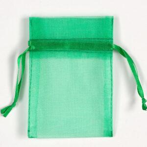 Organzasäckchen Grün –  7.5cm x 10cm (10 Stück)