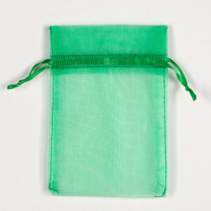 Organzasäckchen Grün –  10cm x 12.5cm (10 Stück)