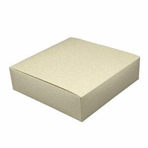 1 Stück Box Schachtel quadratisch mit Deckel, Elfenbein, 22 x 22 x 6 cm