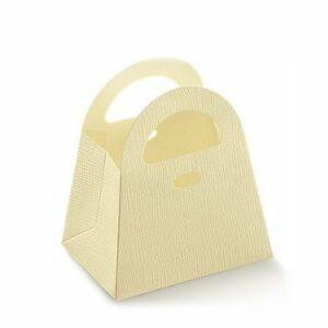 10 Stück Kartonage BAG Seta elfenbein, 80x60x90 mm
