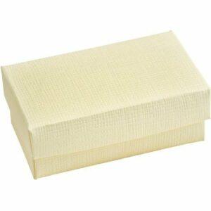 10 Stück Kartonage Rechteck mit Deckel Seta elfenbein, 9,5 x 6,5 x 4 cm