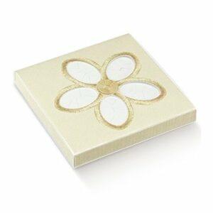10 Stück  Kartonage CINQUE CONFETTI Fiore Ricamato, creme, 105 x 100 x 15,