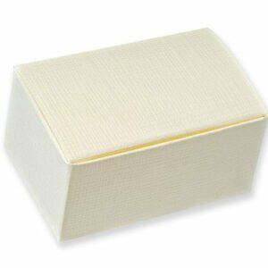 10 Stück Kartonage Rechteck Seta elfenbein, 7 x 4,5 x 3,5 cm
