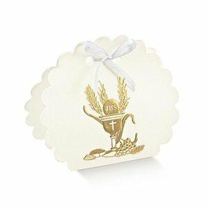 10 Stück  Kartonage BORSA ROTONDA Signum Oro, gold, 58 x 40 x 85,