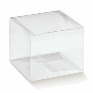 10 Stück  Kartonage AUTOMATICO Trasparente, transparent, 130 x 130 x 120