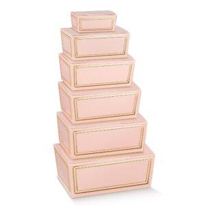 10 Pralinenschachteln Geschenkboxen mit Goldverzierung in Rosa oder Salbeigrün