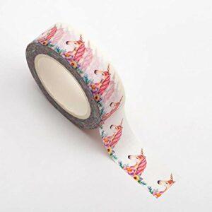 Washi Tape selbstklebend Einhorn 15mm x 10m Rolle