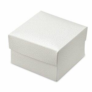 10 St Kartonage Pelle Bianco Viereck mit Deckel, 10 x 10 x 6 cm