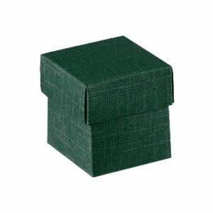 10 Stück box FONDO+COP 50 Seta dunkelgrün, 50x50x50 mm