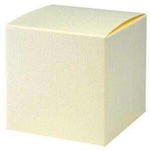 10 Stück Kartonage Pieghevole Seta elfenbein, 7 x 7 x 7 cm