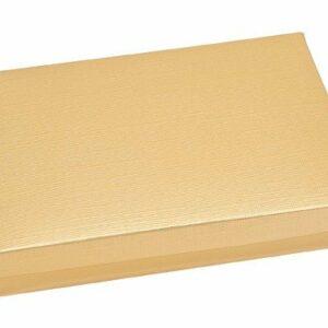 10 Stück Kartonage Rechteck mit Deckel Seta gold, 22 x 16 x 4 cm
