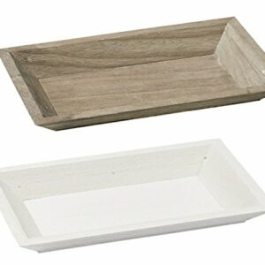 Holztablett Basic 25 x 16 x 3 cm, weiß